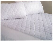 """EMPEROR SIZE QUILTED MATTRESS PROTECTOR 16"""" DEEP BOX EGYPTIAN COTTON LUXURY"""