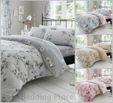 Birdie Blossom Luxury Duvet Covers Quilt Cover Reversible Bedding Sets All Sizes