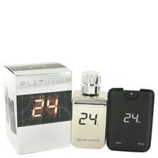 24 Platinum The Fragrance by ScentStory EDT Spray + 0.8 oz Mini 3.4 oz for Men