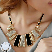 Pendant  Crystal Choker Chunky bib Statement Women Necklace Jewelry Gift Chain
