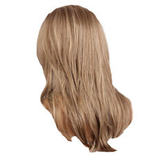 Glamorous Women Long Straight Mixed Curly Blond with Free Wig Cap