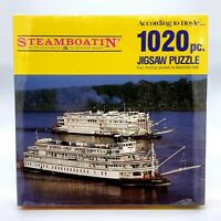 Steamboatin' on The Delta Queen & The Mississippi Queen 1020 PC Jigsaw Puzzle
