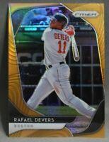 2020 Panini Prizm Neon Orange Prizm Rafael Devers /100 Baseball Card #173