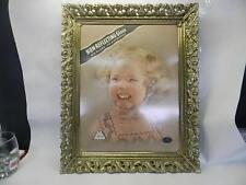 Vintage Metalcraft Ornate Filigree Gold Color Metal Picture Frame #1677