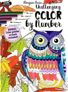 Kappa COLOR BY NUMBER Challenging Advanced Adult Coloring Book