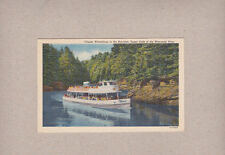Vintage Postcard Clipper Winnebago In The Narrows Upper Dells Wisconsin River
