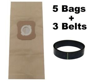 5 Micron Bags for Kirby G3 G4 G5 G6 G7 H2 Ultimate Vacuum + 3 Belts