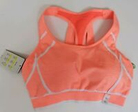 Champion Women's Sports Bra Activewear Coral Orange Sizes M XL 2XL