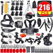 Accessories Pack Kit Head Chest Monopod Bike Surf Mount for GoPro Hero 6 5 4 3 2