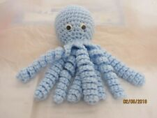 Handmade Crochet Octopus - All Blue