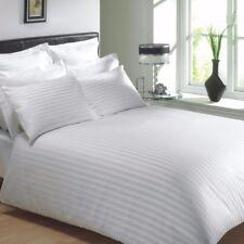 Hotelbettwäsche Bettwäsche Bettgarnitur 135x200 + 80x80 Damast Streifen 4mm Weiß