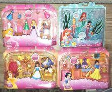 DISNEY Fairy Tale Scene Sleeping Beauty Snow White Ariel & Sisters Belle Playset
