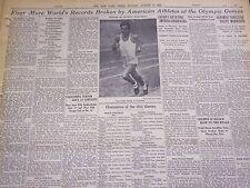 1932 AUGUST 8 NEW YORK TIMES - ZABALA WINS MARATHON AT OLYMPIC GAMES - NT 4804