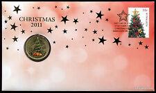 2011 Christmas PNC Coin Stamp Australia