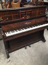 More details for old antique vintage piano c w townley croyden with brass candle holders 14/9/q
