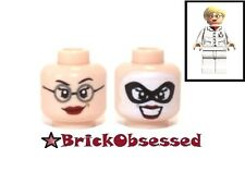 LEGO Dr. Harleen Quinzel Flesh Minifig Head - Lips Mask Glasses Batman Set 10937