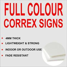 Correx sign, Builders advertising Boards Full Colour 610mm x 457mm