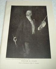 1919 WILLIAM M CHASE from painting by John S Sargent Print