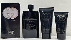GUCCI GUILTY INTENSE POUR HOMME Eau De Toilette 3.0oz Men Aftershave And Shampoo