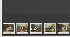 GB Great Britain 1991 George Stubbs Dogs Mint set of 5 in folder never hinged