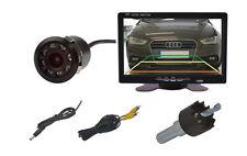 """Telecamera RETROMARCIA 18mm Ø IR Visione Notturna LED 's & 7"""" monitor si adatta per Volvo"""