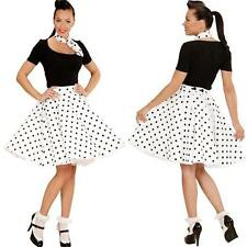 Rockabilly Rock n Roll Damen Petticoat TELLERROCK MIT HALSTUCH -WEIß- 50erJahre