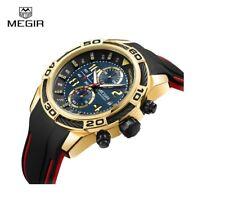 Original Megir Watch Chronograph Men's Invicta Shape Swiss Style Silicone Strap