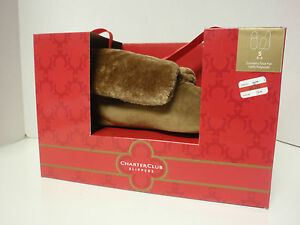 WOMENS SLIPPERS BROWN BOOTIE STYLE SIZE SMALL SIZE 5-6