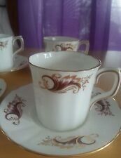 SET OF 4 HANKOOK BONE CHINA DEMITESSE/ESPRESSO CUPS WITH SAUCER'S (ENGLAND)