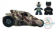 "Dark Knight Rises Mez-Itz PX 2"" Bane & BD Batman w/ Tumbler Mezco"