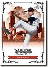 JIM PALMER - 2013 Leaf National Convention PROMOTIONAL Baseball HOF Card
