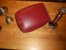 Very old Church Kneeler Leather / Rexine Vinyl Prayer Cushions in Burgundy Red