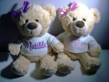 Personalised Teddy Bear  Any Name  26cm Baby Shower Gift Birthday