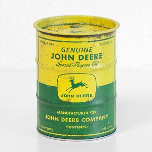 Small Retro Money Tin John Deere Coin Change Money Piggy Bank Box Merchandise