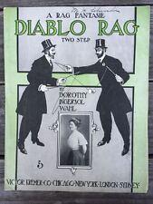 Diablo Rag 1900s MAGIC DIABOLO chinese YO-YO toy SHEET MUSIC Ingrsl Wahl 1908