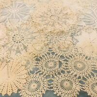 Crochet Doilies White/Ivory Handmade Vintage LOT 20 Mixed Shapes Sizes