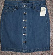 LUCKY BRAND Blue Denim Button Front Knee Length Straight Pencil Skirt Size 6 NWT