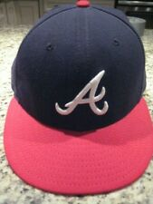 Atlanta Braves 59fifty new era 7 1/4 blue and red authentic hat cap flat bill