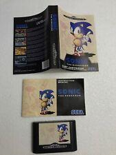 Sonic The Hedgehog Sega Mega Drive Cartridge Manual & Paper Sleeve Only! No Box