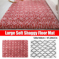 Shaggy Carpet Bedroom Living Room Floor Pads Mat Soft Fluffy Area Rugs Rectangle