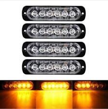 4X 6 LED Car Truck Emergency Amber Strobe Flashing Beacon Breakdown 12/24V Light