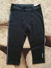 REEBOK TRAINING 3/4 COMPRESSION PANTS WOMEN'S SIZE XL BLACK NWT MSRP $55.00