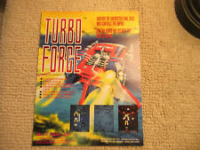 odd size 11- 8 3/8''  turbo force mc o'river ARCADE VIDEO GAME FLYER