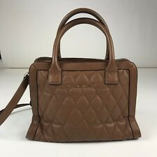 Vera Bradley Leather Quilted Tan Crossbody Purse