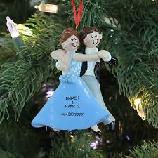 BRIDE AND GROOM WEDDING DANCING COUPLE Personalized Christmas Tree Ornament 2016