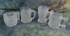 McDonalds/RocDonalds The Flintstones Glass Mug Collection 1993 Complete Set of 4