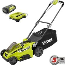 Cordless Electric Lawn Mower 16 in Cutting Deck 40V Battery Walk Behind Push