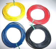 20 Ft 16 Gauge AWG Ga Black Red Yellow Blue Car Alarm Primary Wire 12V Combo New