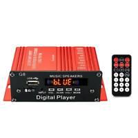  200W 12V Car HIFI Audio Stereo Power Amplifier Bluetooth FM Radio USB Remote