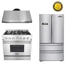 Thor Kitchen 36'' Gas Range stove child safe 36 Fridge range hood light bulbs